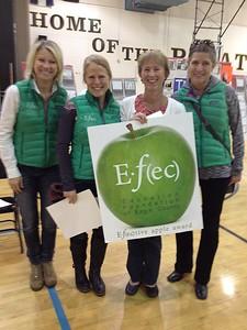 Elizabeth James with EFEC TrusteesTessa Kirchner, Dana Maurer, and Amber Prince