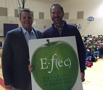 Drew Musser4th Grade Teachers Brush Creek Elementary SchoolNovember 2015 WinnerWith Dr. Jason Glass, ECSD Superintendent