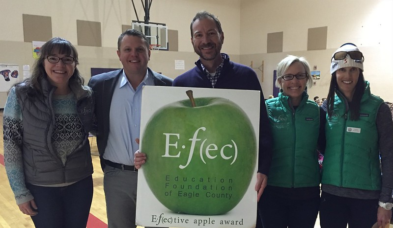 Drew Musser<br>4th Grade Teachers <br>Brush Creek Elementary School<br>November 2015 Winner<br>With Dr. Jason Glass, ECSD Superintendent and EFEC Trustees Felicia Battle, Wendy Rimel & Kelly Pope