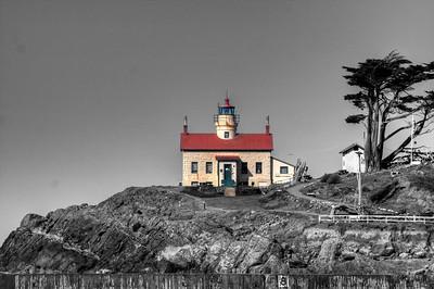 Battery Point Lighthouse along California coast.