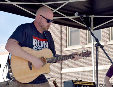 Josh Koester with his band Tiger Uppercut performed Saturday morning at the EffingHAM-JAM held in downtown Effingham sponsored by the Effingham County Chamber of Commerce. Tiger Uppercut is performing at FRamily Fest 2018 on Saturday evening, Aug. 4 from 6:30-7:30 p.m. at Larson's Landing on Lake Sara Charles Mills photo