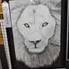 "Maria Dust, 12th grader at Effingham High School, earned third place for ""Lion"" an ink drawing at the Effingham Art Guild Children's Art Show. Dawn Schabbing photo"