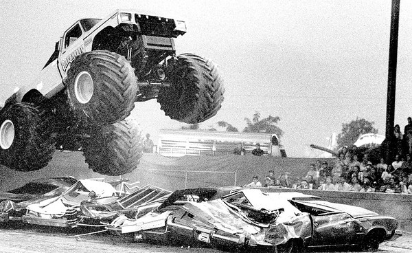 The Barbarian Monster Truck smashes cars during a previous Effingham County Fair. EDN file photo
