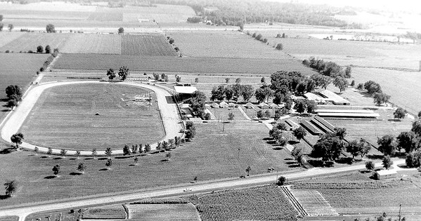 An aerial view of the Effingham County Fairgrounds in 1968. EDN file photo