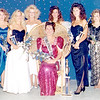 Effingham County Fair Queen 1990 Angela Dawn (Heaton) Click, seated is surrounded by contestants in Altamont. From left are Brenda Stout, Tracey Dunn, second runner-up Kathleen Kessler, Angela Miller, Robbi Dammerman, first runner-up and Miss Congeniality Angela Buening, Shannon Taylor and Miss Effingham County Fair Queen 1989 Terri Zumbahlen. EDN file photo