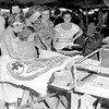 Five Effingham people were among those looking over exhibits in the domestic arts tent at the 1949 Effingham County Fair. Pictured from left to right, Janice Cooper, Barbara Jean Evans, Mrs. Ethelyn Cooper, Mrs. Sylvia Evans and Mrs. Grace Perkins. EDN file photo