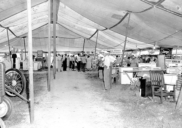 Exhibit tent at the 1949 Effingham County Fair. EDN file photo
