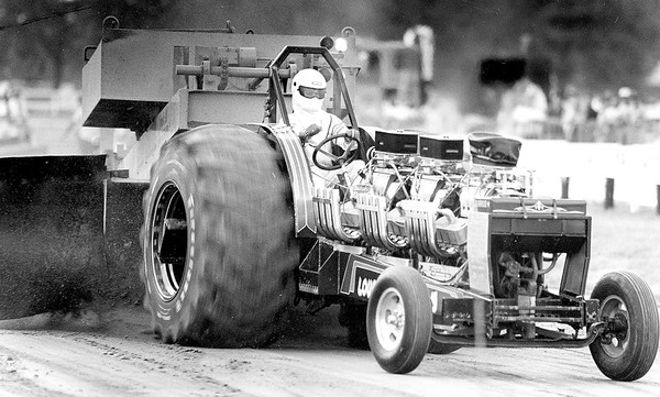 Mike Miller of Greenup revs up his modified tractor during a tractor pull at the Effingham County Fair of years past. EDN file photo