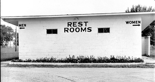 Flower beds brighten several spots on the Effingham County fairgrounds in 1973 courtesy of the Green Thumb Group, an organization of over 65ers who have worked throughout the summer at the fairgrounds. Pictured are flowers outside of the rest room. EDN file photo
