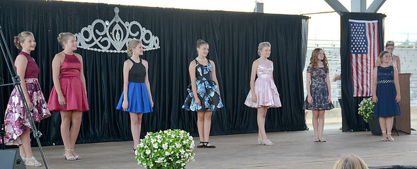 Effingham County Junior Miss group one shows off their party looks during the 2020 pageant.