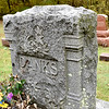 A uniquely carved grave stone in the Faulk Cemetery visited Thursday morning during the Effingham County Genealogical and Historical Society bi-annual Cemetery Hop. Charles Mills photo