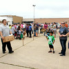 A line formed at the Effingham FreedomFest Saturday for food, games, music and a meal, which was all offered free of charge.<br /> Tony Huffman photo