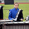 Vibraphonist Makenna Kuhn performs Saturday afternoon for the Newton Community High School Marching Eagles during the Effingham Marching Hearts Invitational band contest Class 3A division competition. Charles Mills photo