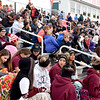 A large crowd braved the cold temperatures Saturday for the Effingham Marching Hearts Invitational band contest at Effingham High School Klosterman Field. Charles Mills photo