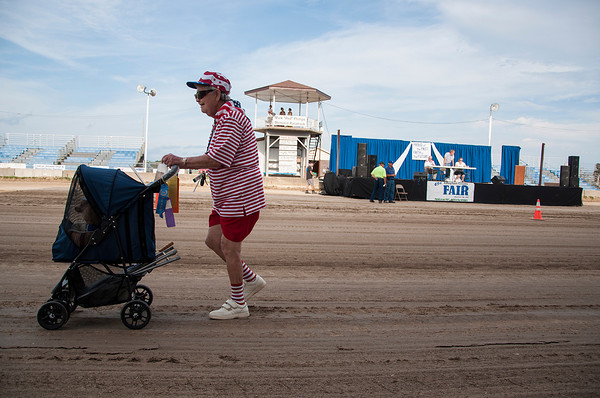 A participant of the Twilight Parade walked in all patriotic attire with her dog in her stroller during the Effingham County Fair in Altamont. | Photo by Alexa Rogals