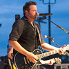 Randy Houser performs in front of a crowd at the grandstand during Effingham County Fair in Altamont.
