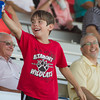 As with many fair events, T-shirts were catapulted into the grandstand audience during the Effingham County Fair Talent Show. A few lucky fair-goers caught the prize.   Photo by Cassie Porter