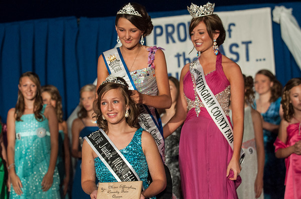 Libby Feldhake, 13, of Dieterich is crowned Saturday as the Effingham County Fair 2013 Junior Miss. | Photo by Alexa Rogals