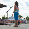 Libby Feldhake, 13, of Dieterich, shows off her casual attire during the Effingham County Fair Junior Miss Pageant. Feldhake was crowned the 2013 Junior Miss.   Photo by Cassie Porter