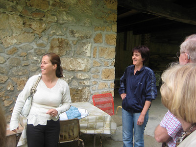 Our wonderful Tour Director Jasmina with the mill owner
