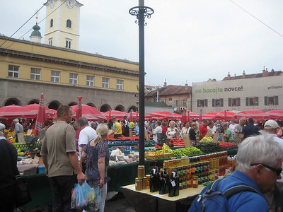 Zagreb's colorful open air market called Dolac