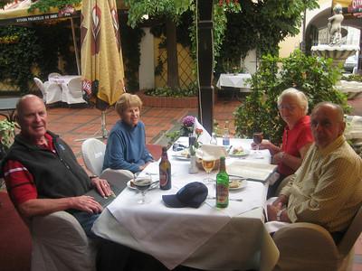 Lunch in Zagreb, Jim & Joy Egan, Bob and Marge Hartsfield