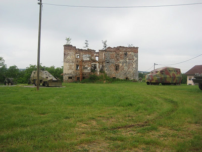 An open air war memorial in Turanj, a small village close to Karlovac city, that was completely destroyed during the war. Some of the ruined buildings and weapons have been left there so as not to forget the history.