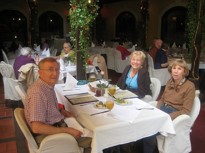 Lunch in Zagreb, Bruce and Phyllis Bassett, Pat Castellucci