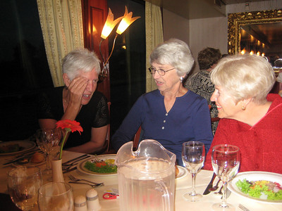 Elke, Mary and Joy at Captain's Welcome Dinner