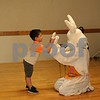 "Bennett Lopez, 3, of Plainfield greets the Easter Bunny at the ""Breakfast with the Bunny"" event Saturday at the Hopkins Park Terrace Room, 1403 Sycamore Road in DeKalb."