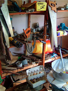 Handsaws in the laundry, March 2003