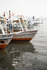 Motorboats en el Nilo. Lúxor