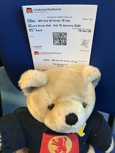 CalMac is super excited for the sail round and round Arran on Isle of Arran. Mum has come along too!