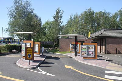 Grangemouth Earlsgates two lane drive-thru!  Flintstones canopies???