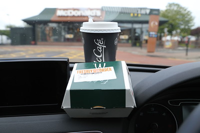 Driver Fuel.  Limited Edition Sausage and Bacon (no cheese) Roll.  Won't bother again.   It was ok but a little unspectacular.  Telford Road