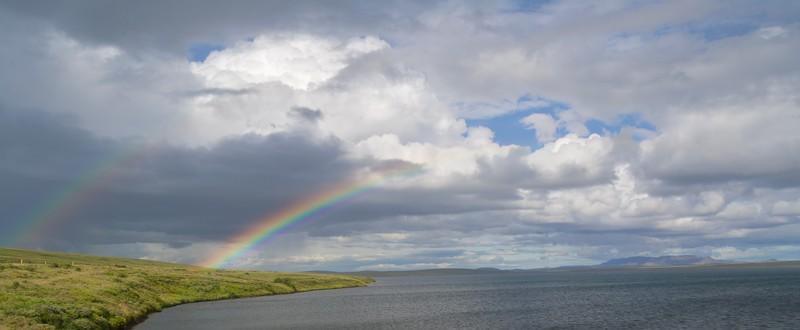 Regenbogen bei Myvatn