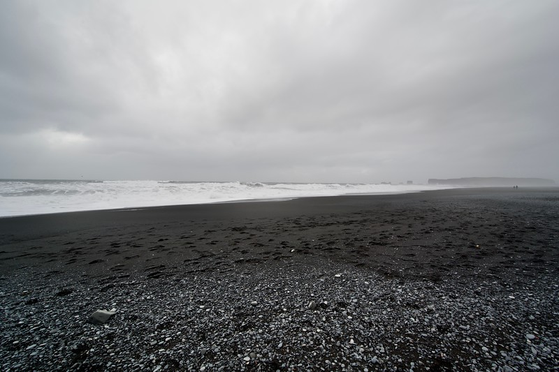 Black sand…