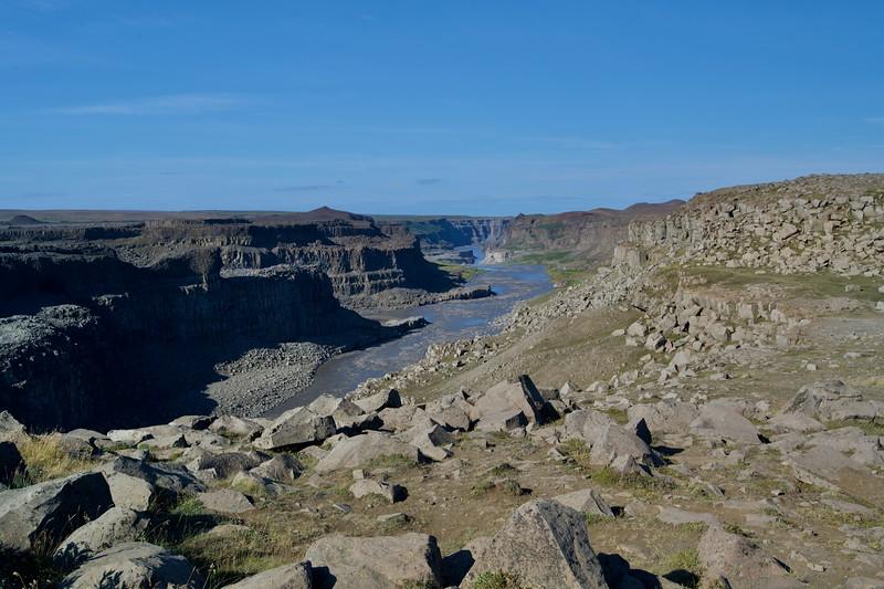 Canyon unterhalb Dettifoss