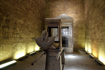 Inside one of the chambers at Edfu