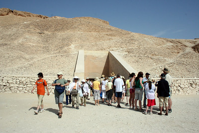 Heading into tomb of Ramses IV