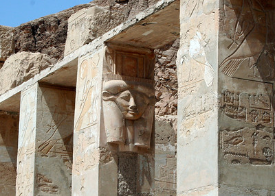 Carving of Hathur at Temple of Hatshepsut