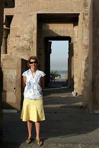 Amy at Kom Ombo
