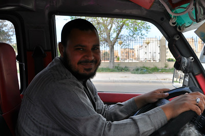 My friendly taxi drive Ihab drove me around Alexandria all day for $12.