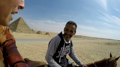 My dear kindred spirit friend Salem who took us out around the pyramids on his horses. He is the caretaker at the Magical House Air BnB located under the Great Pyramid where I've spent 5 magical days. Only $18/night.