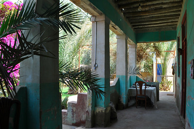 The delightful porch at the Magical House Air BnB located under the Great Pyramid where I've spent 5 magical days. Only $18/night.
