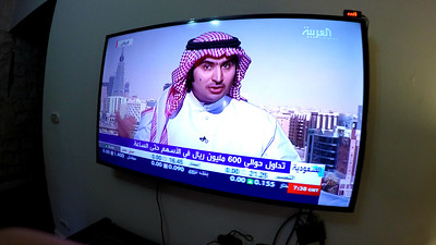 Fun watching the Egyptian news at my friend Omar's house. Reminded me of my childhood at family gatherings.