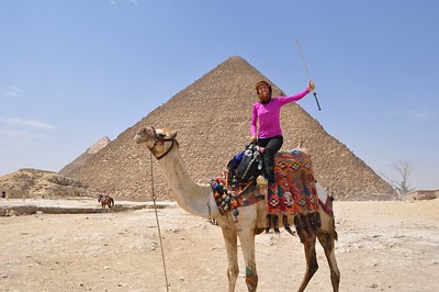 Nicole of Egypt by the Great Pyramid.