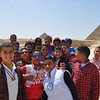 My friend Monika and I were swooped up by this English class at the pyramids to practice their English.