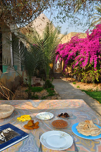 My dear friend Salem, and house caretaker, made me a delectible Egyptian breakfast of Foul (beans), falafel, scrambled eggs, eggplants, feta and pita at the Magical House Air BnB located under the Great Pyramid where I've spent 5 magical days. Only $18/night.