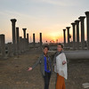 Monika and I at the Temple of Thoth at sunset.